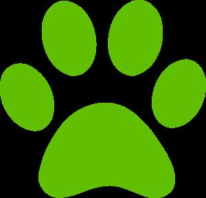 green dog-paw
