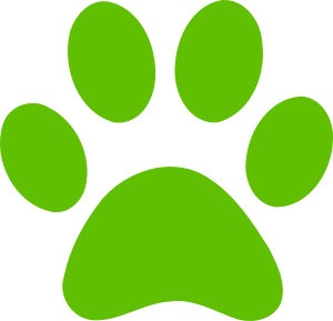 green dog-paw