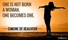 one is not born a woman